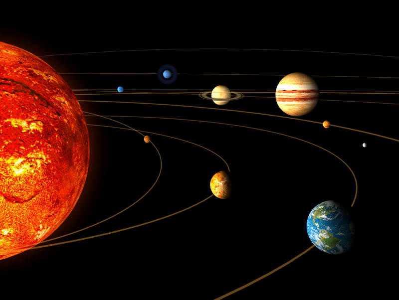 Mars är den fjärde planeten från solen.