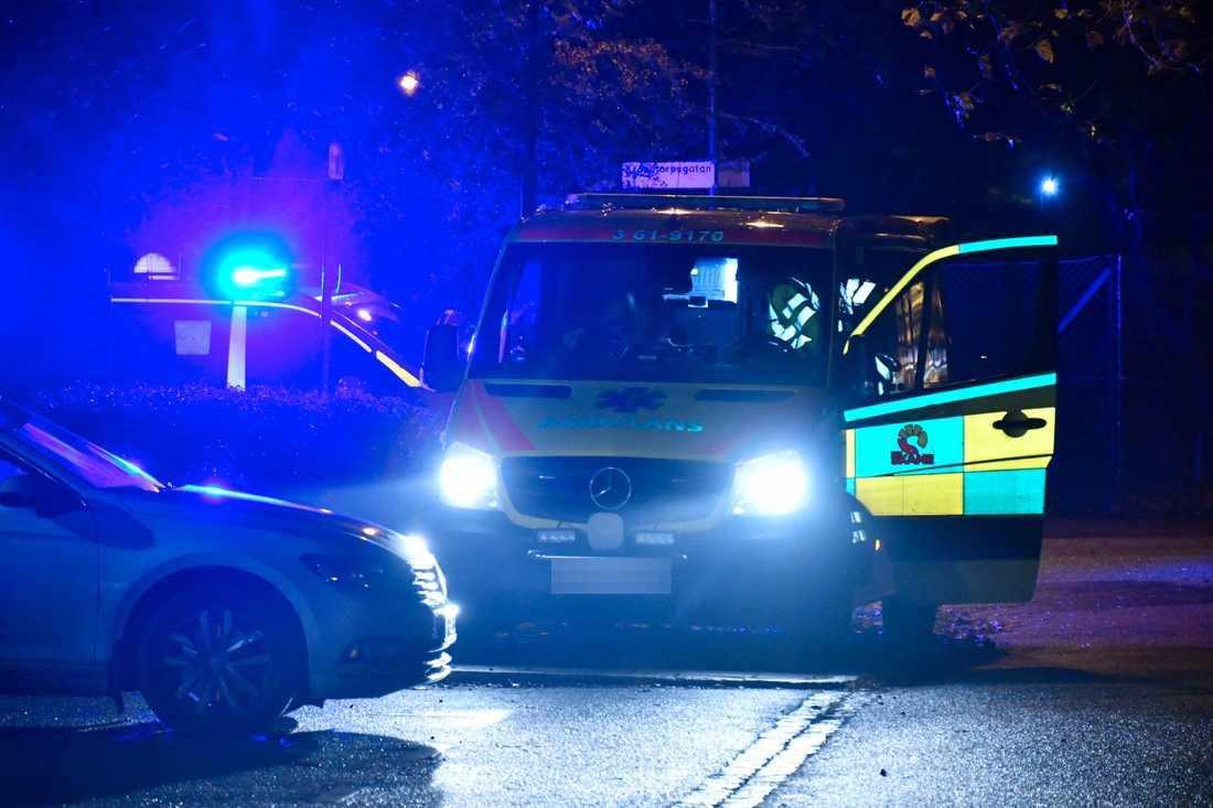 """En föreningslokal i Malmö har evakuerats efter larm om """"stark och stickande lukt""""."""