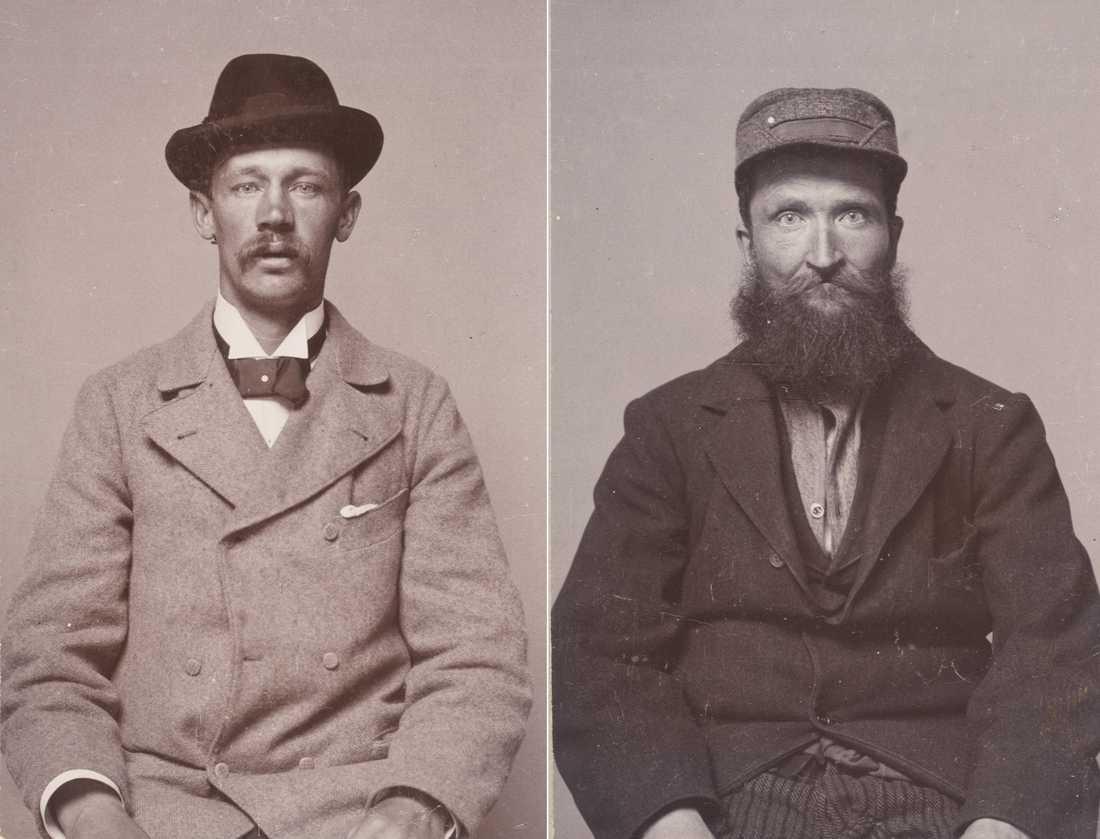 Älskare  Lars Konrad Johansson, till vänster, och Frans Albert Pettersson.