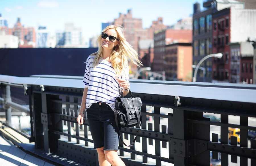 Tröja - La Redoute, Jeansshorts - H&M, Skor -  Chanel.