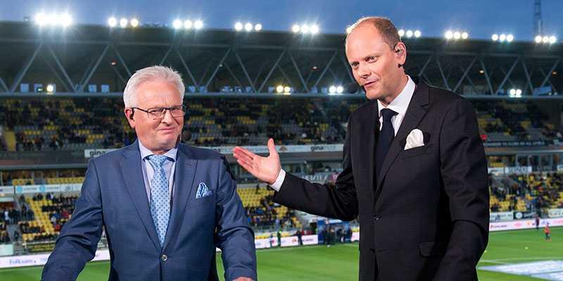 """Fotbollsprofilerna Hasse Backe och Lasse Granqvist är lyckliga delägare i den nya supertravaren. """"Jag har bestämt mig för att ligga jävligt lågt"""", har Hasse Backe sagt tidigare angående förhoppningarna kring treåringen på allas läppar."""