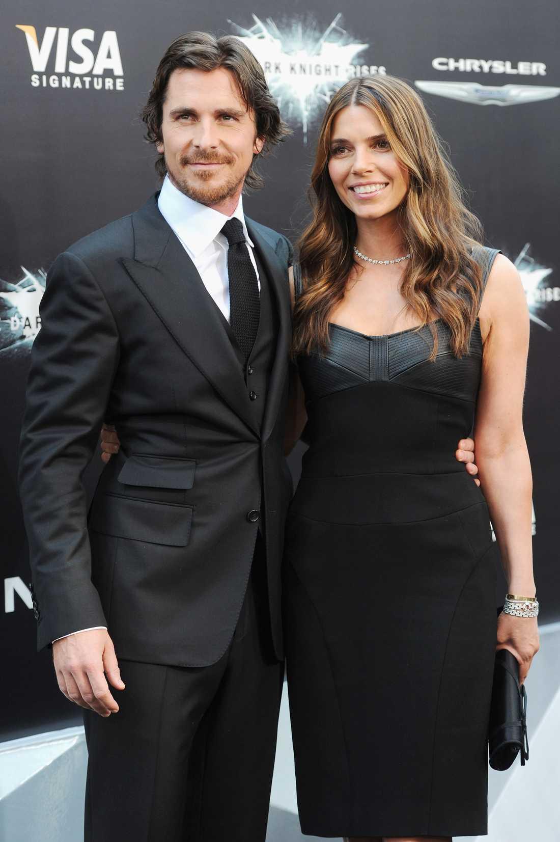 Christian Bale med hustrun Sibi Blazic.