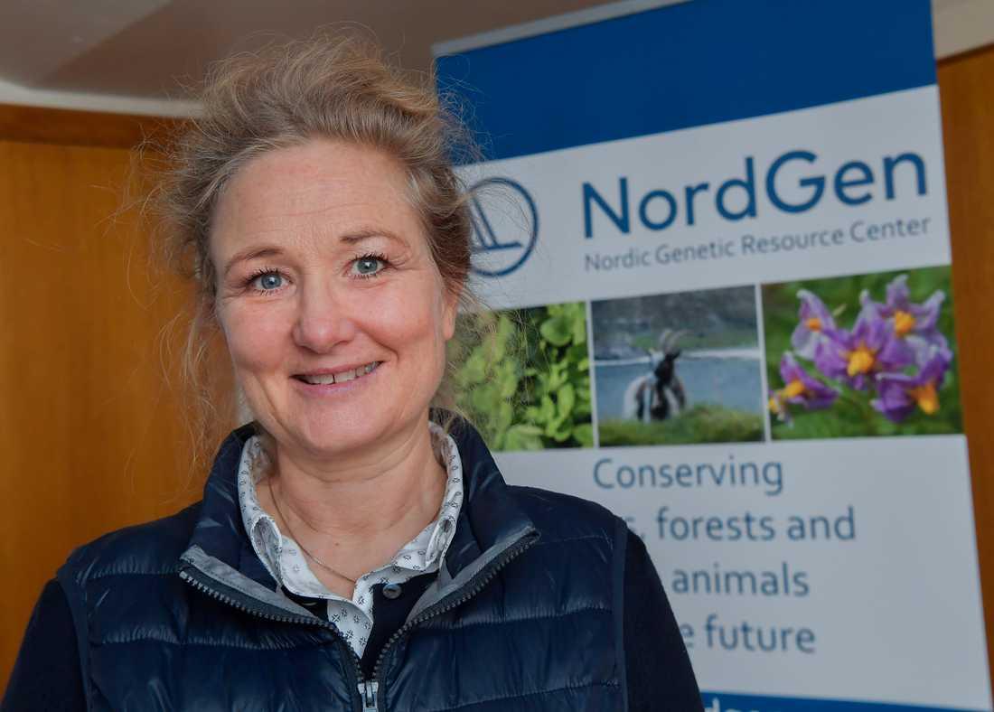 Lise-Lykke Steffensen, generaldirektör för den nordiska genbanken Nordgen som sköter driften av Svalbards globala frövalv.