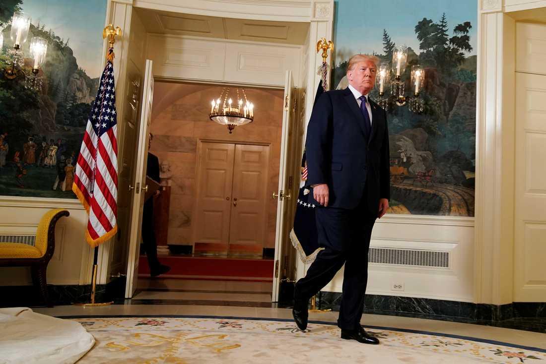 USA: president Donald Trump håller tal till det amerikanska folket i samband med attacken.