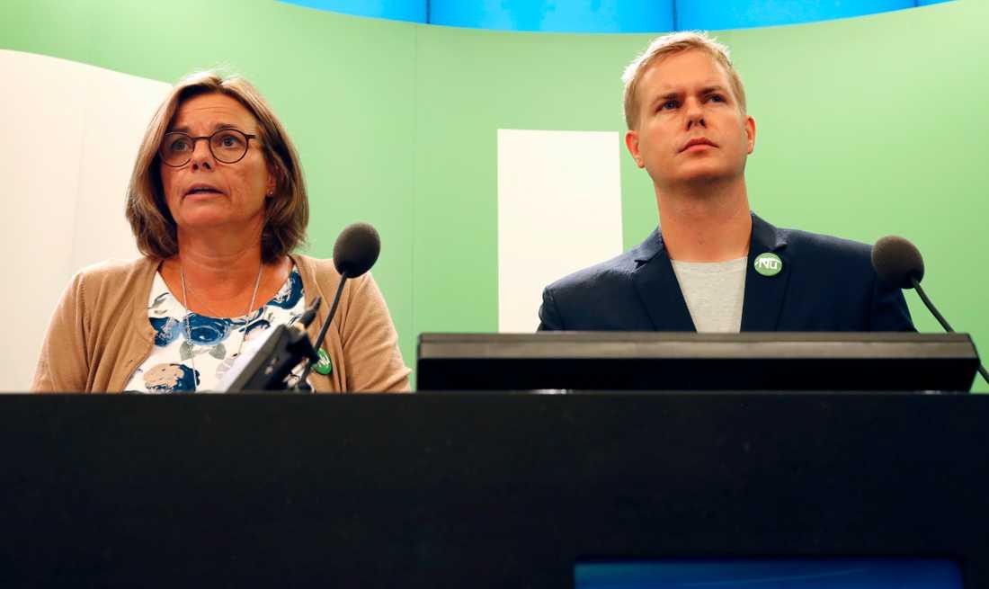Isabella Lövin och Gustav Fridolin, språkrör Miljöpartiet.