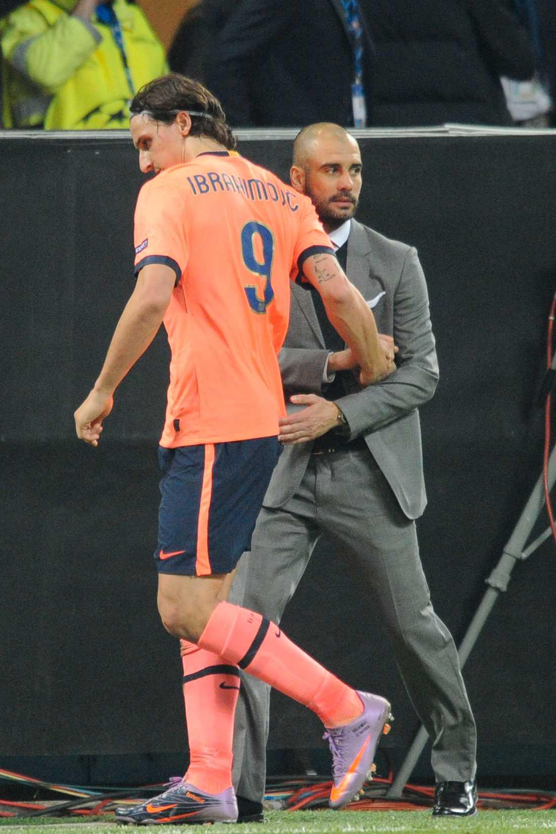 Inte bästa vänner Zlatan har i sin bok bland annat uttalat sig om att Guardiola saknar stake, i jämförelse med Mourinho.