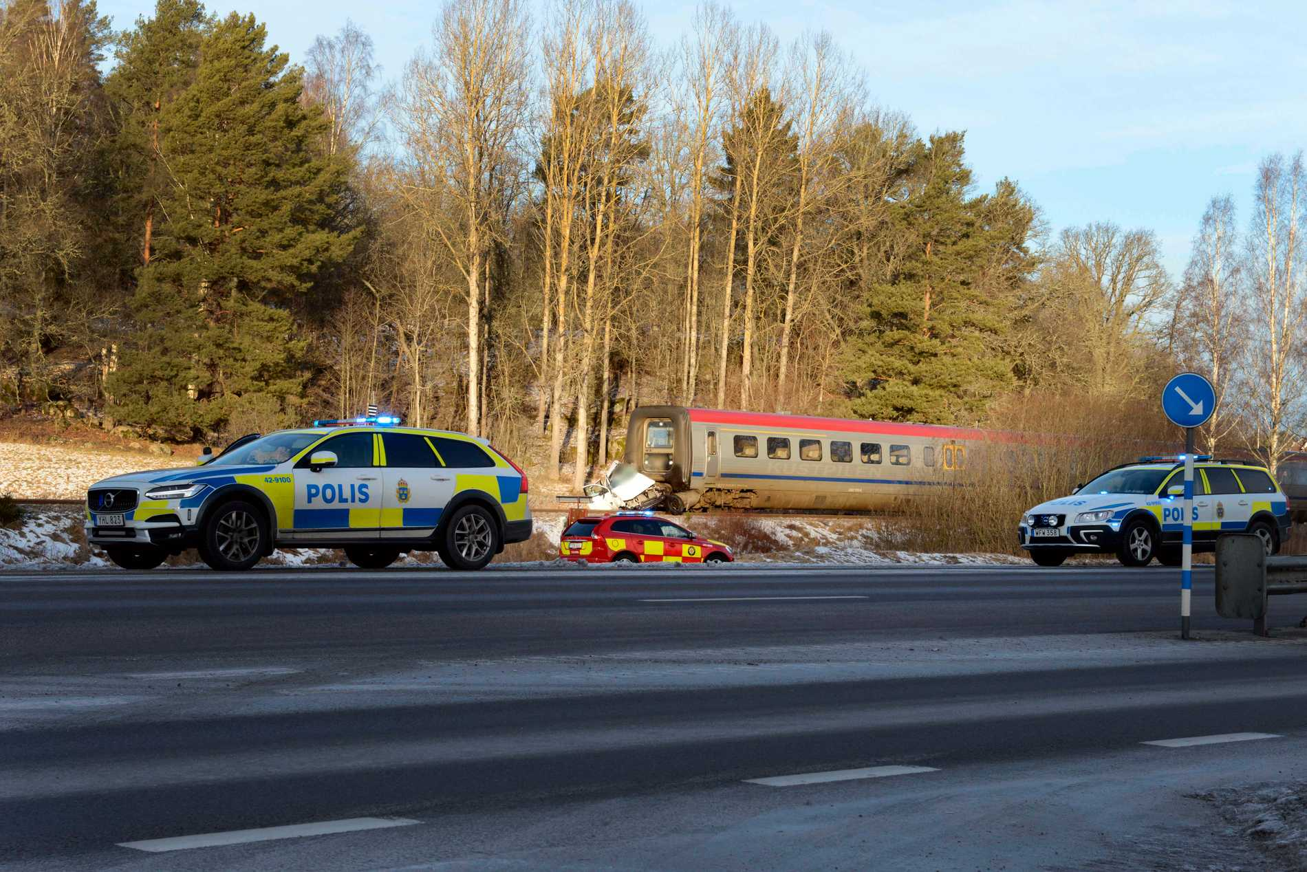 Tågolyckan inträffade i Kinda kommun på lördagsmorgonen.