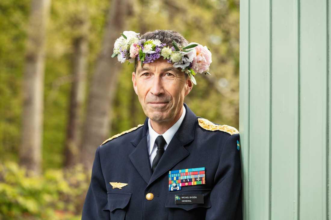 Överbefälhavare Micael Bydén stod för det näst mest direktlyssnade sommarpratet i år. Pressbild.