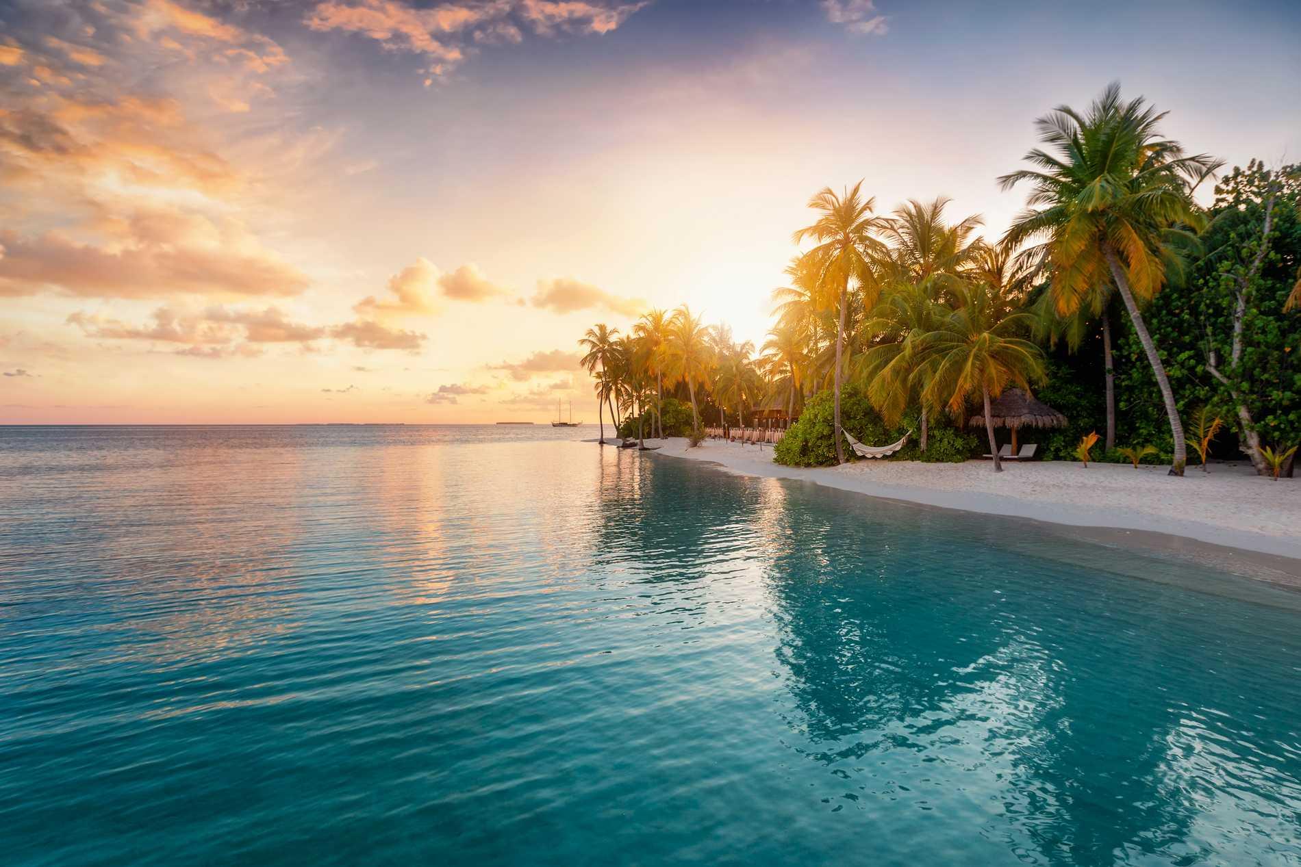 Maldiverna är ett riktigt romantiskt resmål.
