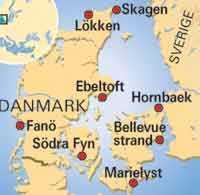 Karta Sodra Danmark.Danmarks Atta Basta Strander Aftonbladet