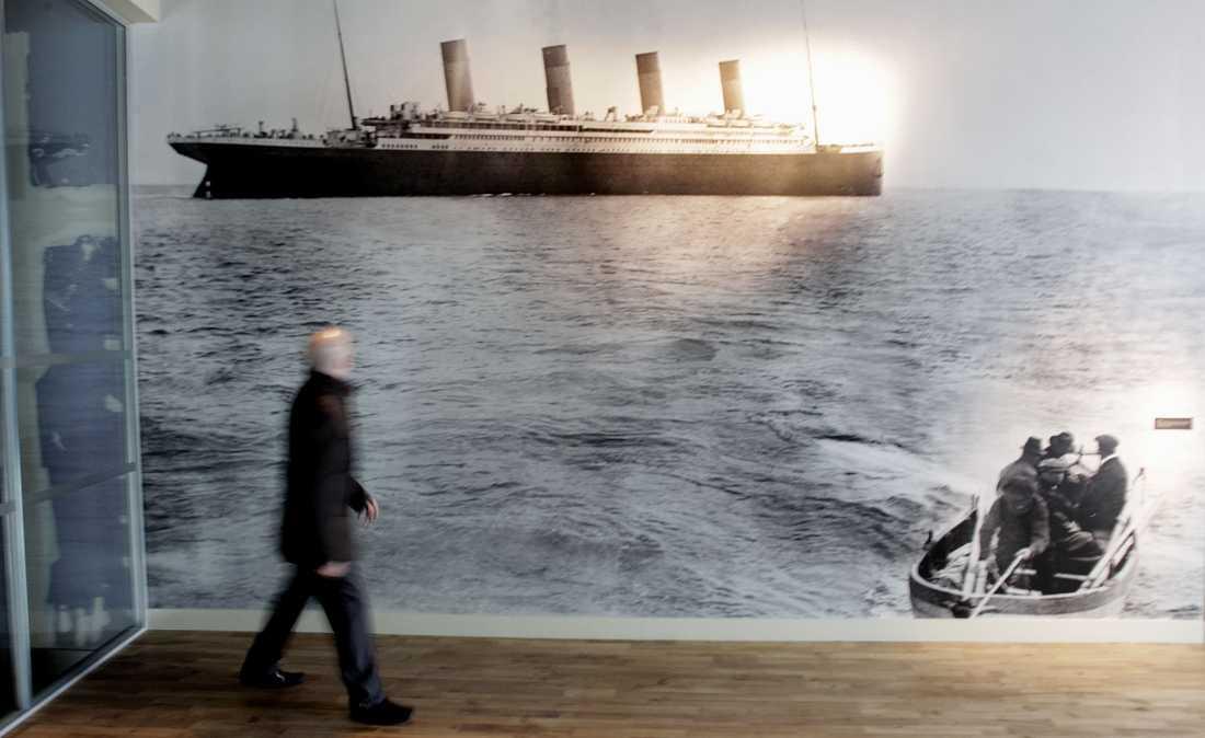 På museet kan du bland annat studera det sista fotografiet av Titanic.