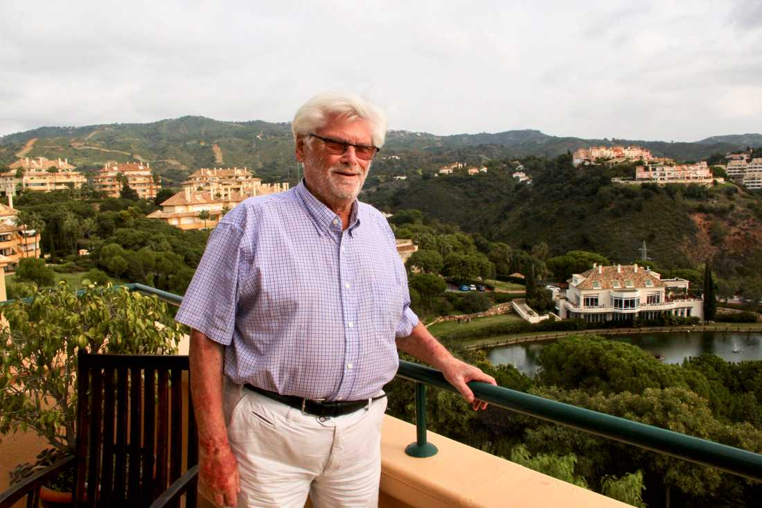 Eckhardt Metzner, 80 år, har tillbringat de senaste 36 vintrarna i Marbella.