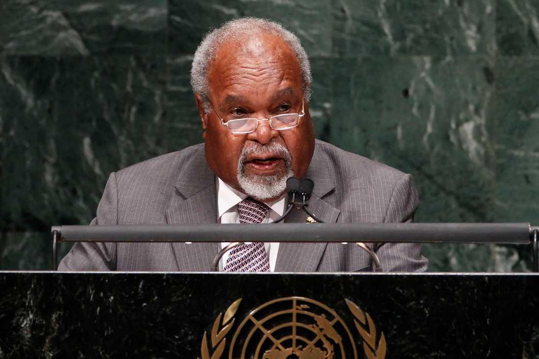 Michael Somare, tidigare premiärminister i Papua Nya Guinea, avled i fredags. Arkivbild.