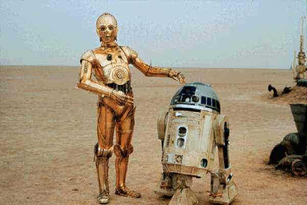 Säg hej till C-3PO och R2-D2.