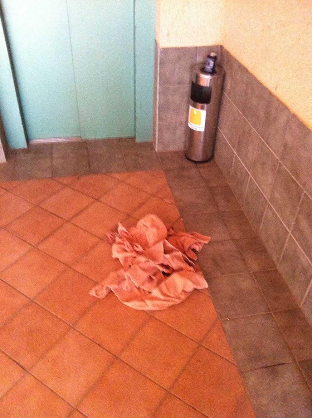 Boende har tyckt att det luktat magsjuka i hotellets korridorer.