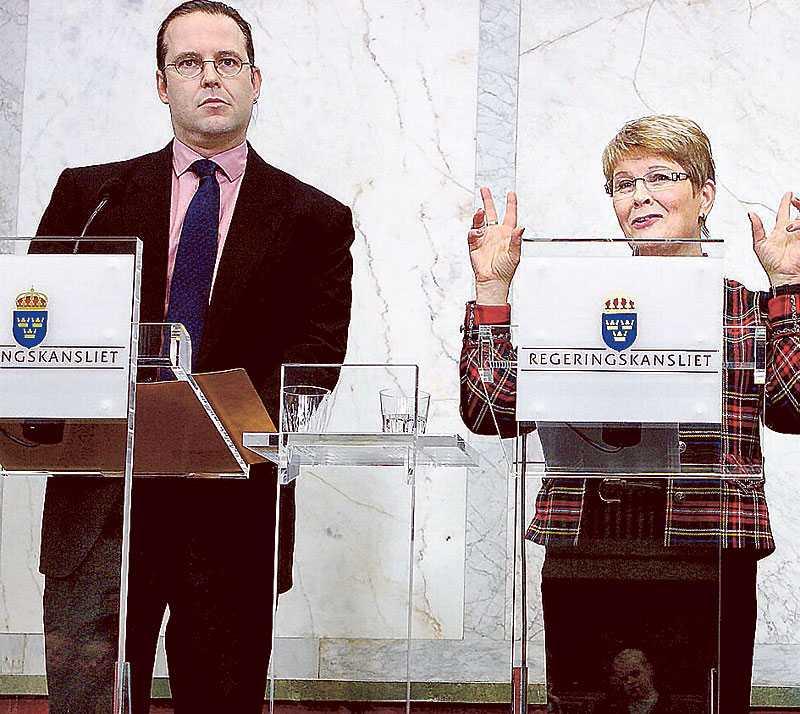 Regeringen, med finansminister Anders Borg, och näringsminister Maud Olofsson, har ingen politik för att möta lågkonjunkturen. Man har följt initiativen från EU, men inte tagit några egna.