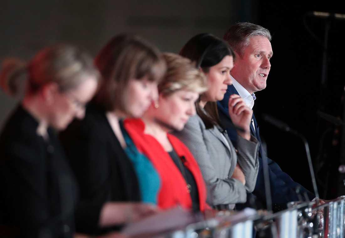 Labouraspiranterna utfrågades om bland annat antisemitism inom partiet och sin syn på splittringen som rått.
