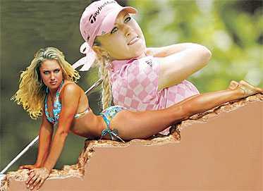 Golfens kournikova Modell, dokusåpastjärna - och golfens nästa megastjärna. 22-åriga Natalie Gulbis har framtiden för sig. I går slog hon Annika Sörenstam i första rundan av Major-tävlignen i Maryland.