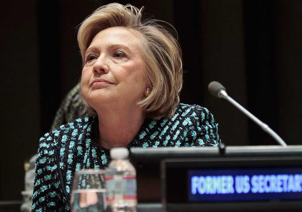 USA:s förre utrikesminister Hillary Clinton