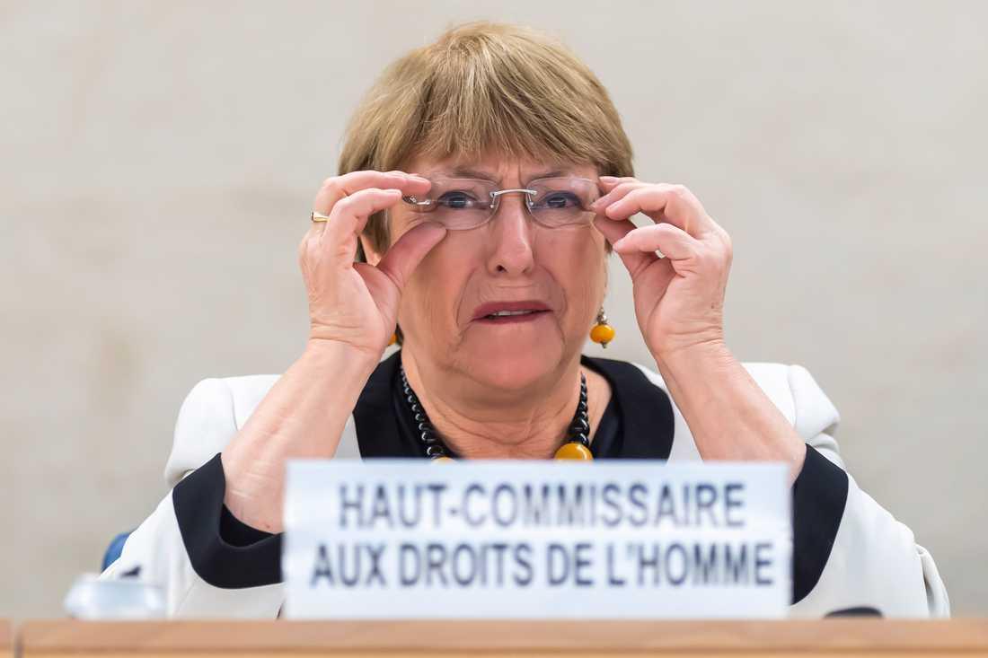 FN:s människorättschef Michelle Bachelet uppmanar länder att överväga att släppa fångar som tillhör riskgrupper för coronaviruset. Arkivbild.