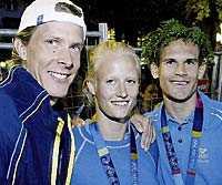 TRE GULDHOPP – TRE SKADOR Christian Olsson, Carolina Küft och Stefan Holm är nu alla skadade.