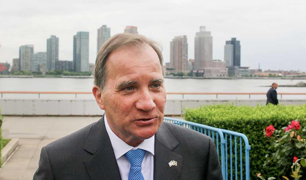 Stefan Löfven talar på FN:s klimatmöte i New York (arkivbild från FN-möte i fjol).