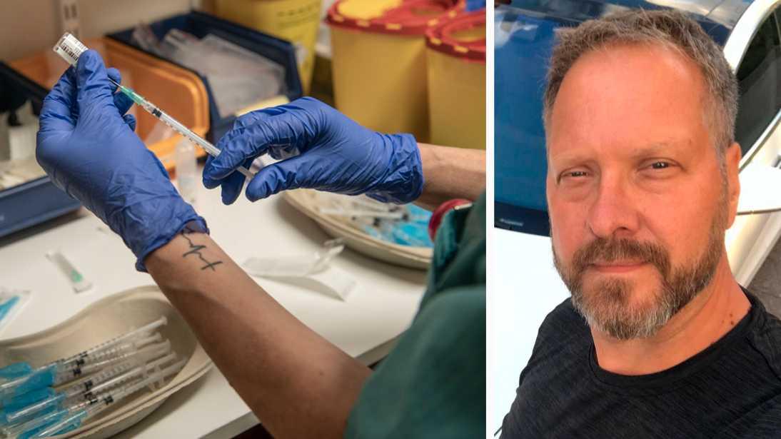 """""""Vi kommer att ge allt vaccin vi får så snabbt som möjligt till medborgarna. Det är det vi kan lova"""", säger chefsläkaren Erik Sköldenberg."""