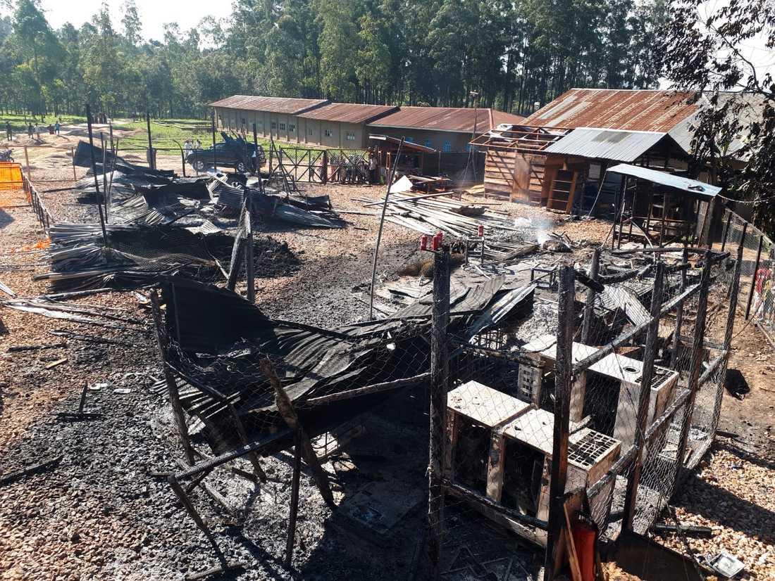 I februari angreps Läkare utan gränsers sjukhus i samhället Katwa av okända gärningsmän som brände ner delar av det. Arkivbild.