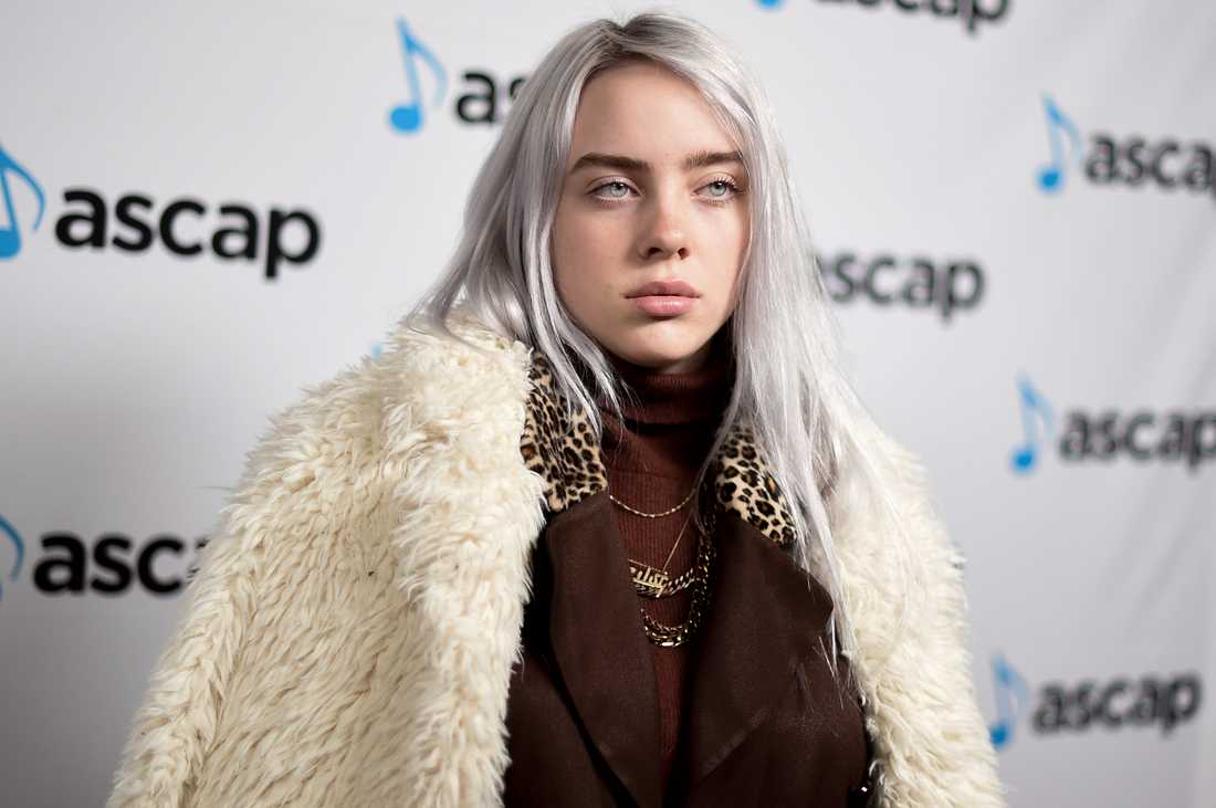 Billie Eilish på ASCAP Pop Music Awards i Los Angeles 2017.
