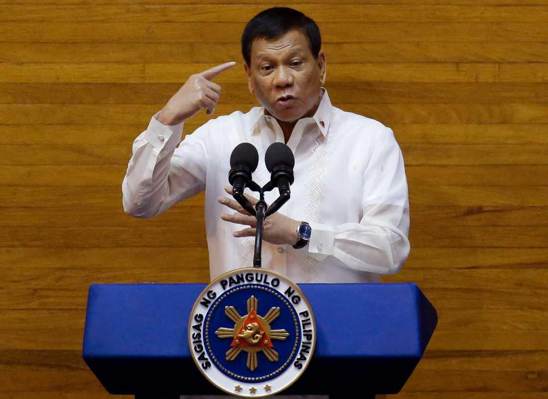 Rodrigo Duterte gillar inte Kim Jong-Un. Arkivbild.