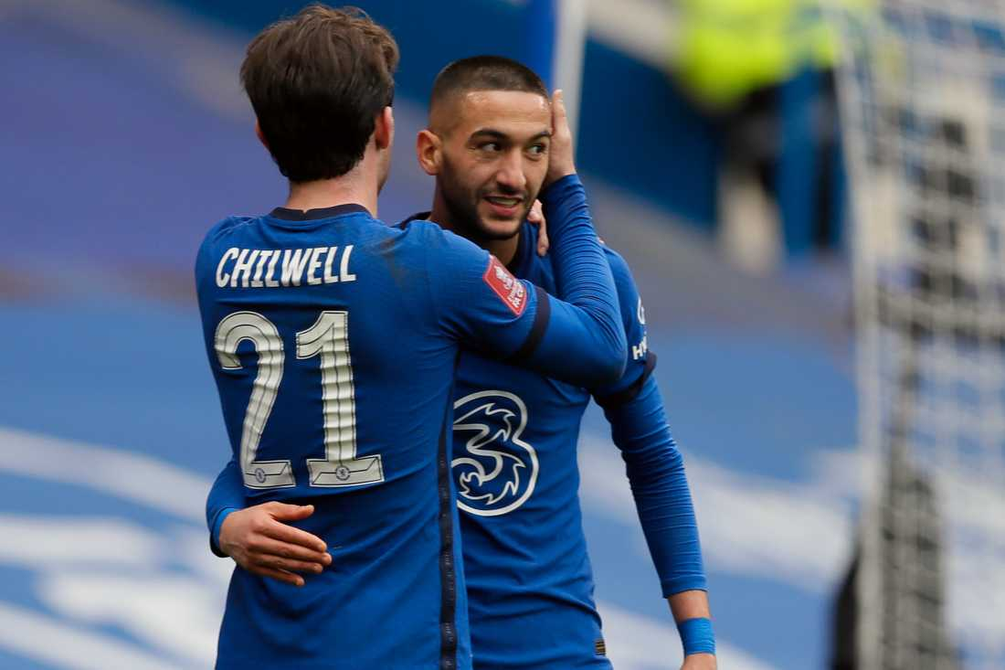 Hakim Ziyech firar tillsammans med Ben Chilwell.
