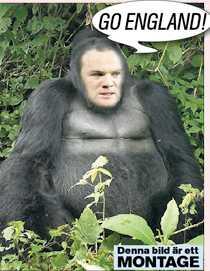 """""""Gorillan Rooney"""" ska heja fram England i sommarens VM – om Jonathan Ross får bestämma!"""