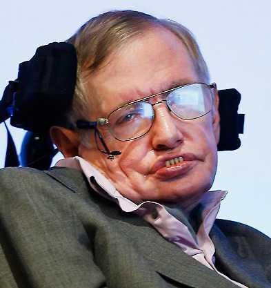 Stephen Hawking varnar för robotarna. Foto: AP