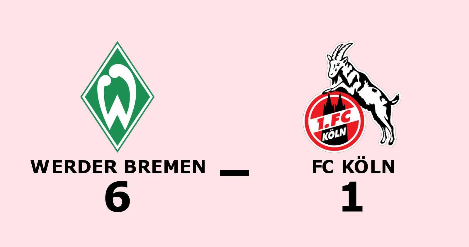 Målfest när Werder Bremen besegrade FC Köln