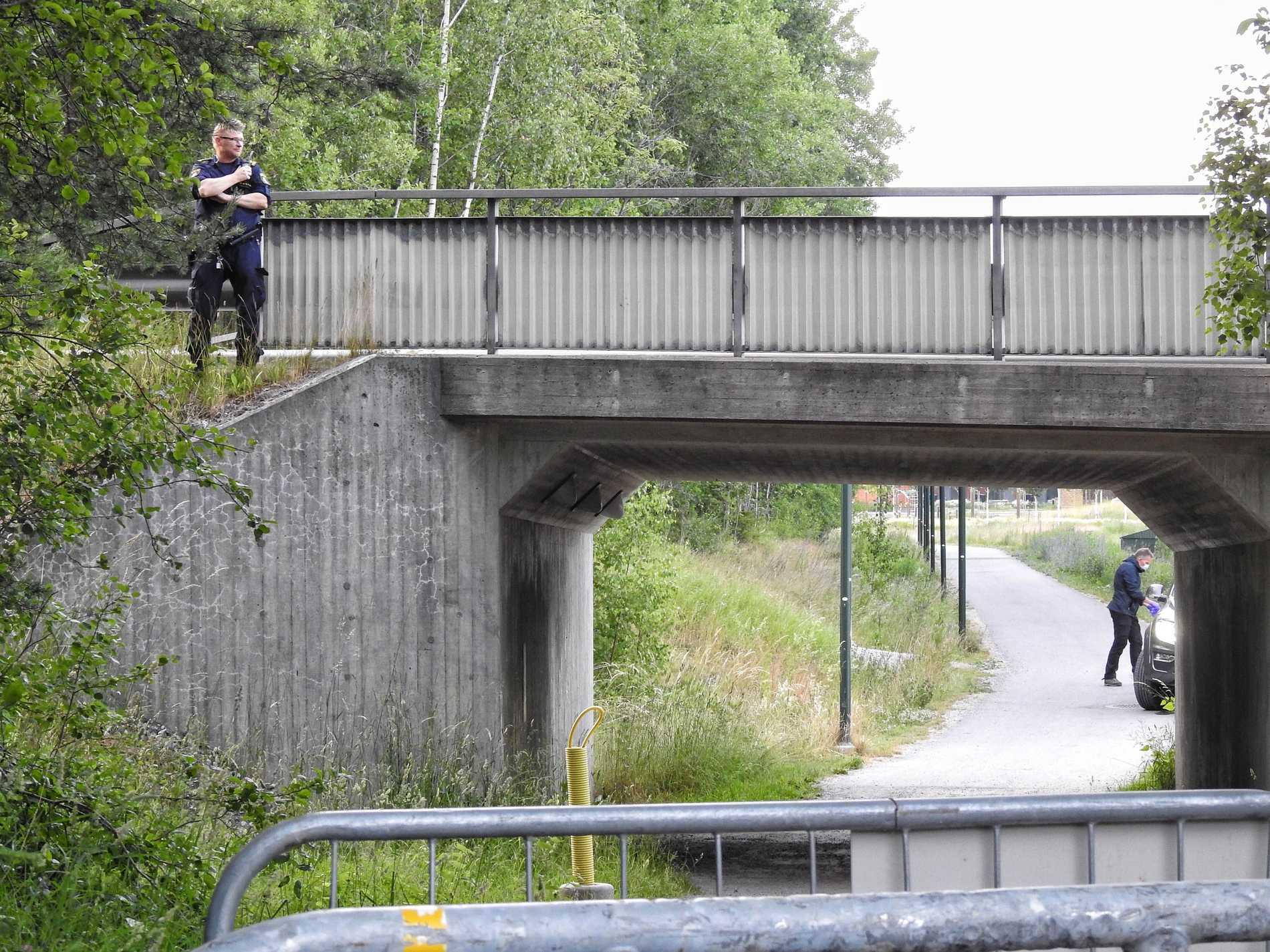 Brottsplatsen i Täby.