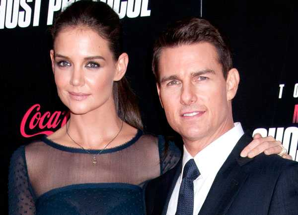 Tom Cruise, 49, och Katie Holmes, 33. Gifte sig 2006 och har en dotter tillsammans. Skilsmässan blev en världsnyhet.