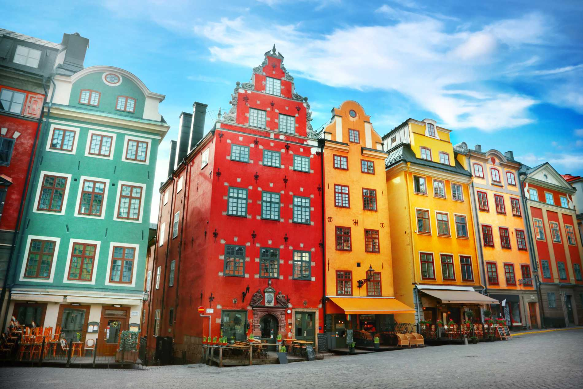 Gamla stan ligger mitt i Stockholm.