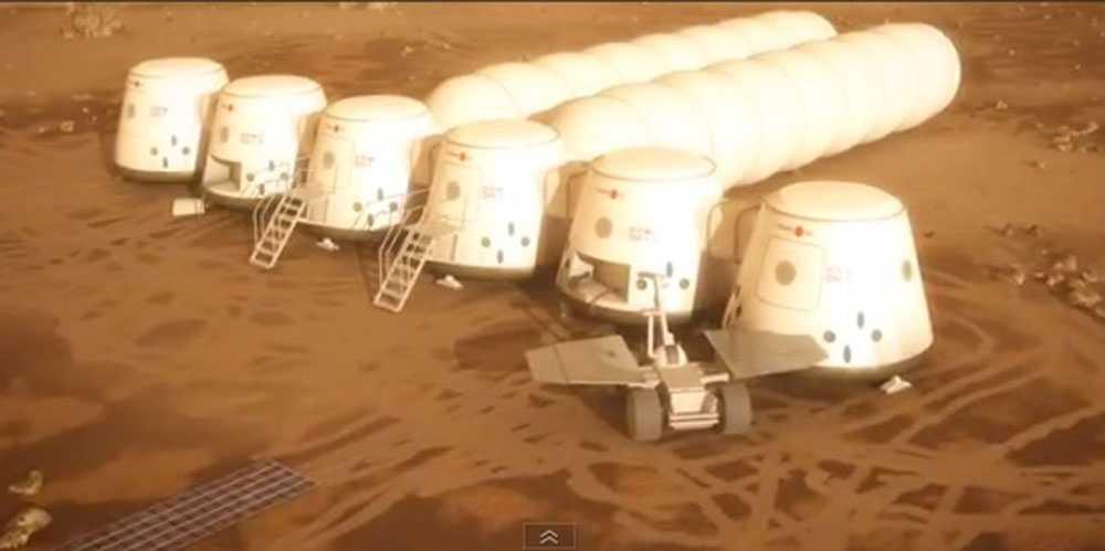 Så här tänker företaget Mars One att rymdbasen ska se ut.