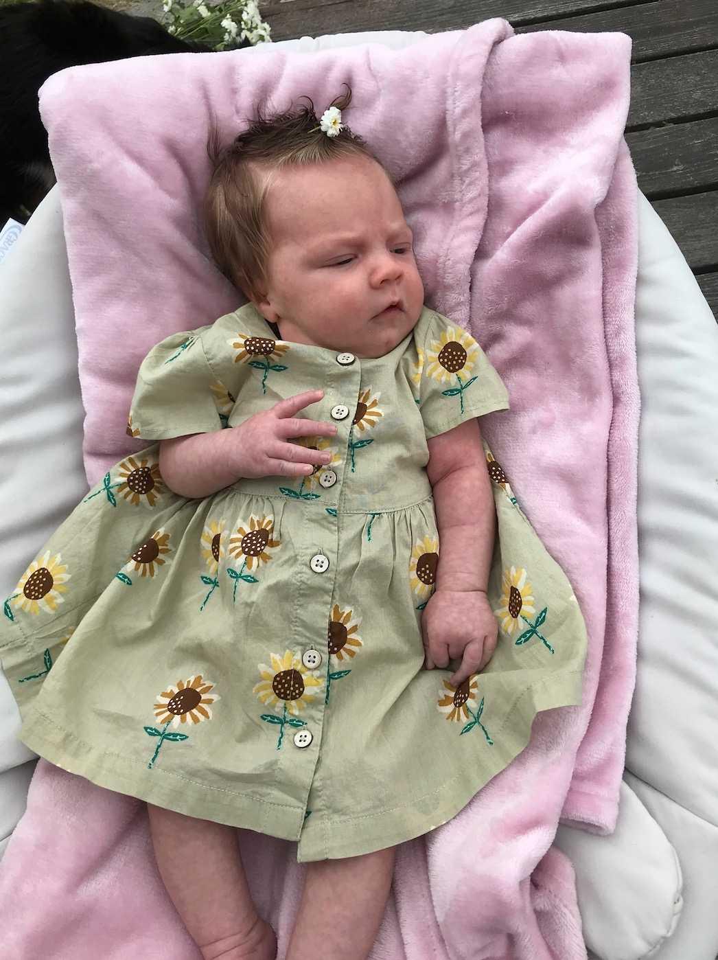 Bebisen Allie med hår. Inskickad av mamman Julia Örnstedt  i Halmstad.