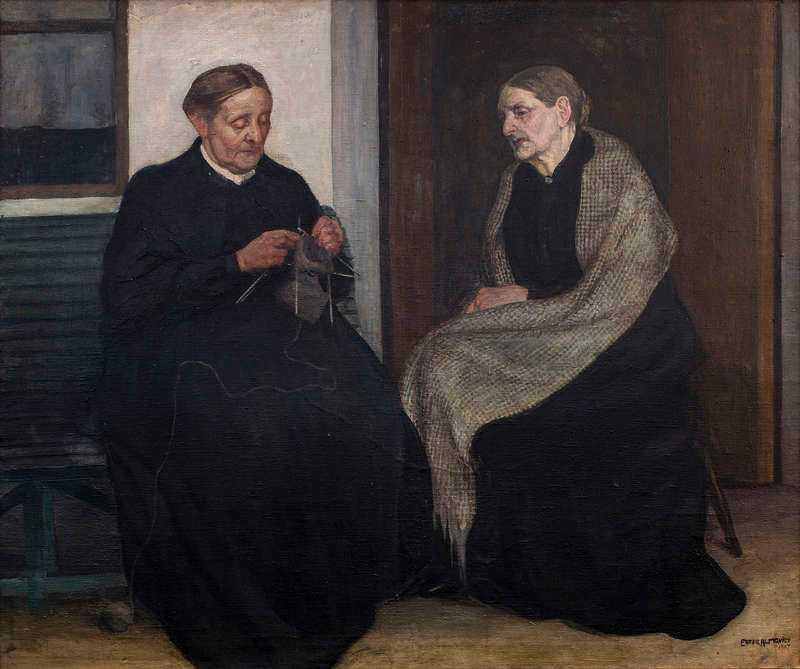 Ester Almqvist, Systrar, 1907, olja, MalmöKonstmuseum