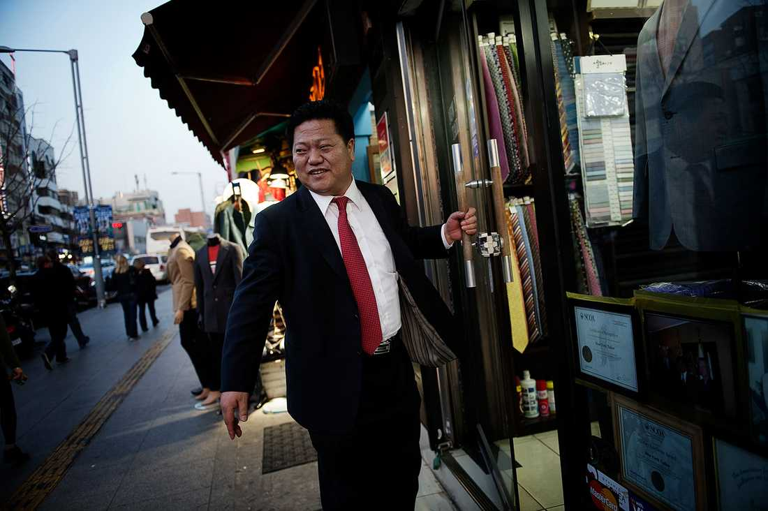 Park Wanyoung, 52, driver en herrekipering i Seoul.