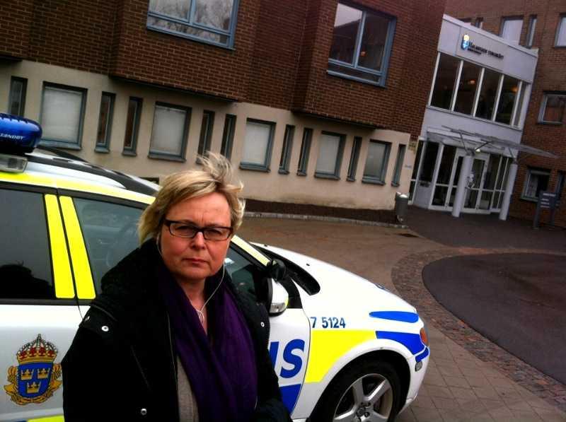 På plats Aftonbladets Kerstin Danielson.