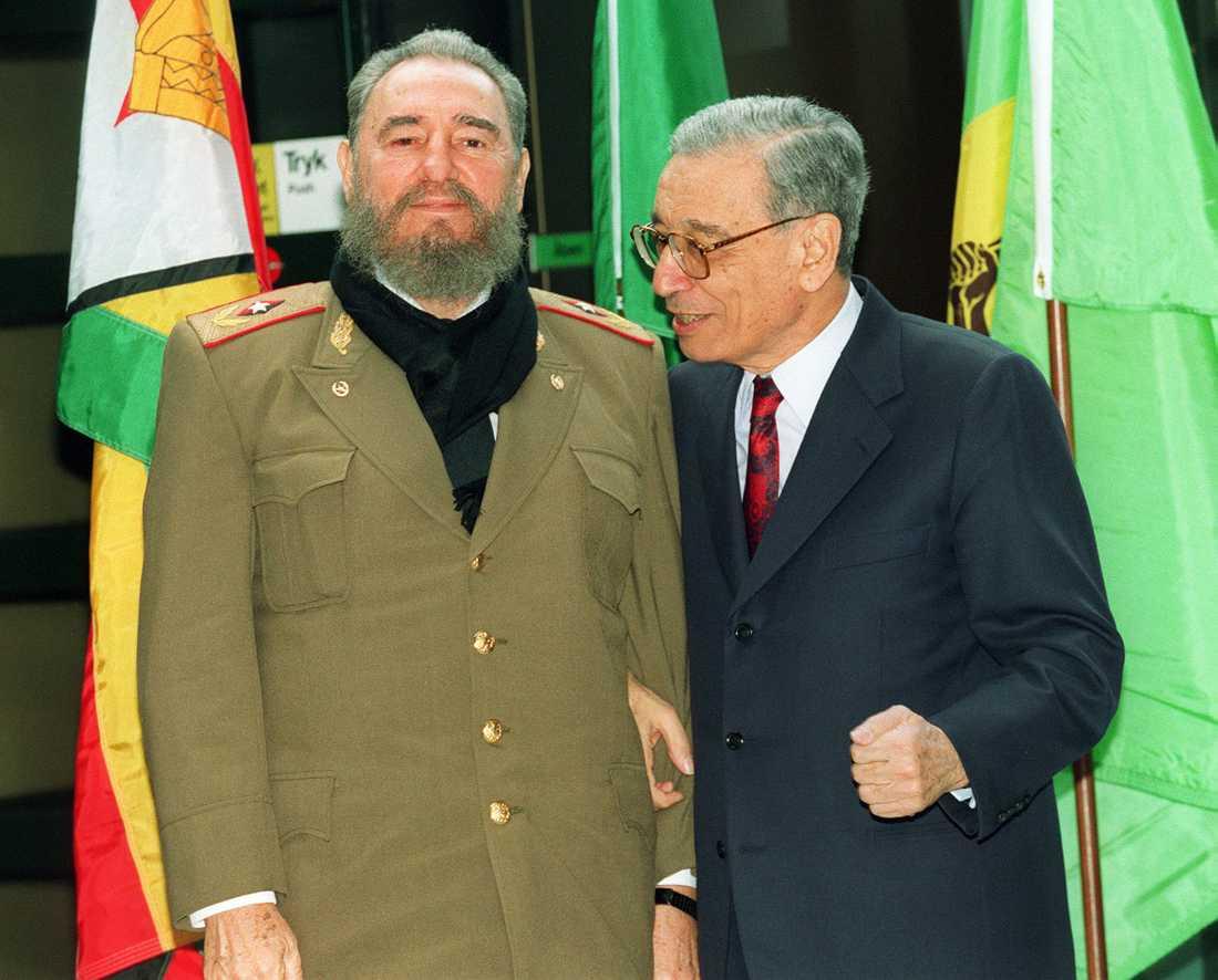 Fidel Castro  tillsammans med FN:s generalsekreterare General Boutros 1995.