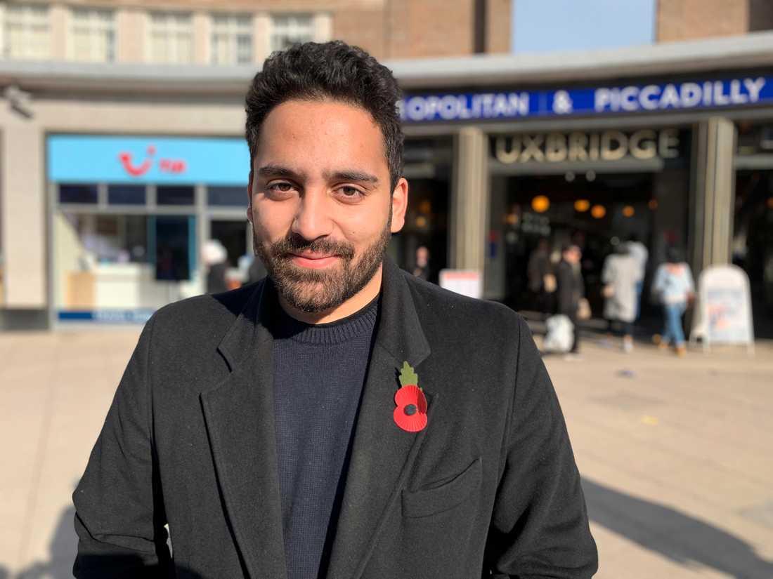 Labourkandidaten Ali Milani hoppas besegra premiärminister Borin Johnson i valkretsen Uxbridge och South Ruislip.