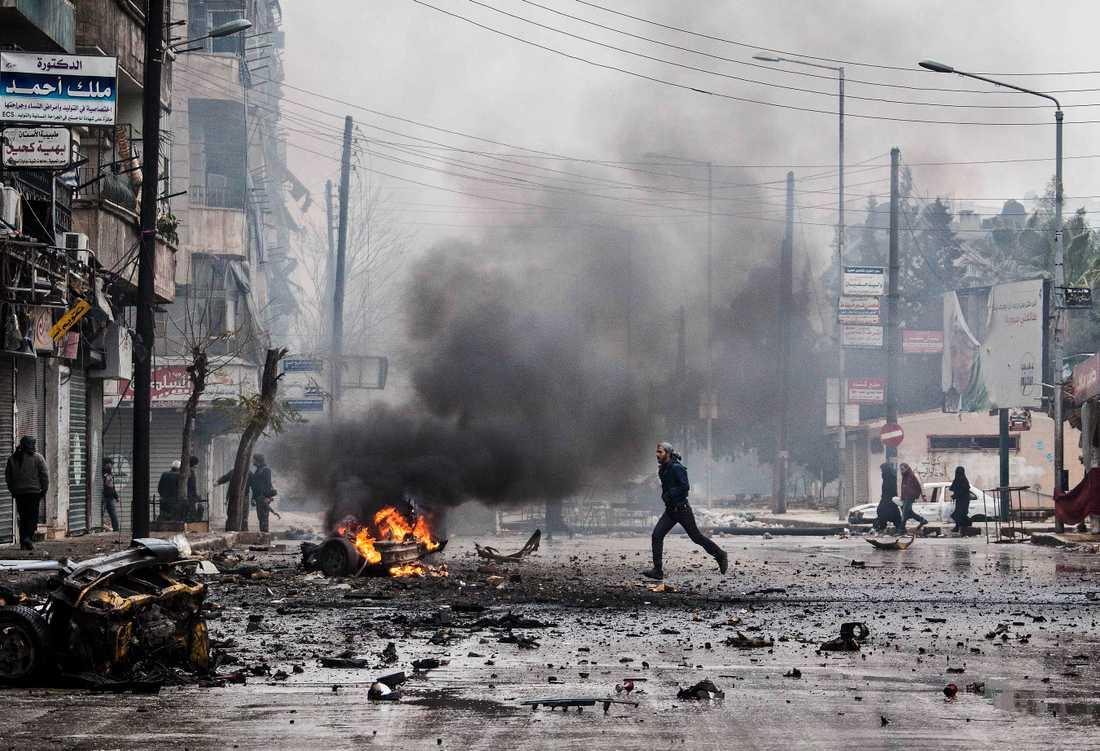 Aleppo 2012. Staden var en av de sista där upproret startade. Striden har varit hårda.
