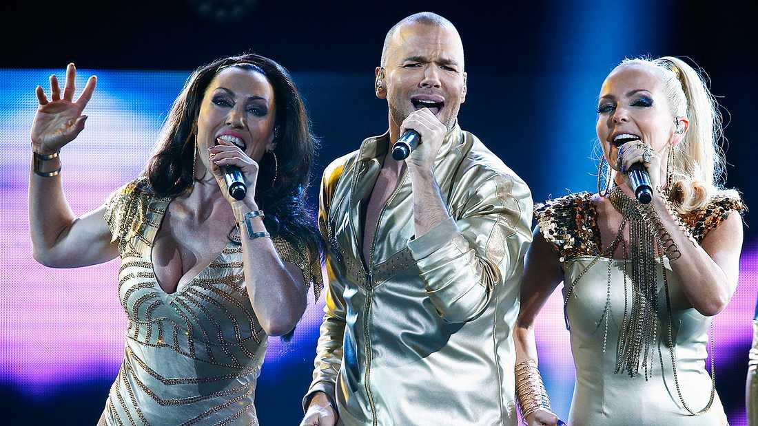 Lina, Andreas och Tess i Alcazar.