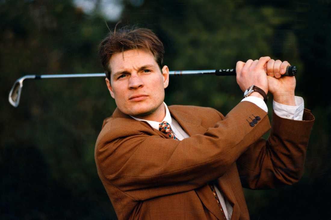 Fosshaug är en duktig golfare. Bilden togs 1993.