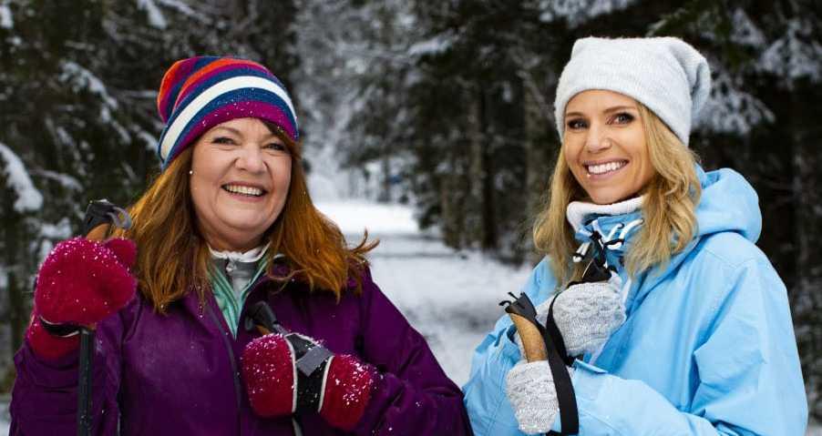 """Doktor Karin Granberg och programledaren Sofia Rågenklint från """"Fråga doktorn hälsa"""" som har premiär i kväll, tisdag, i SVT1."""