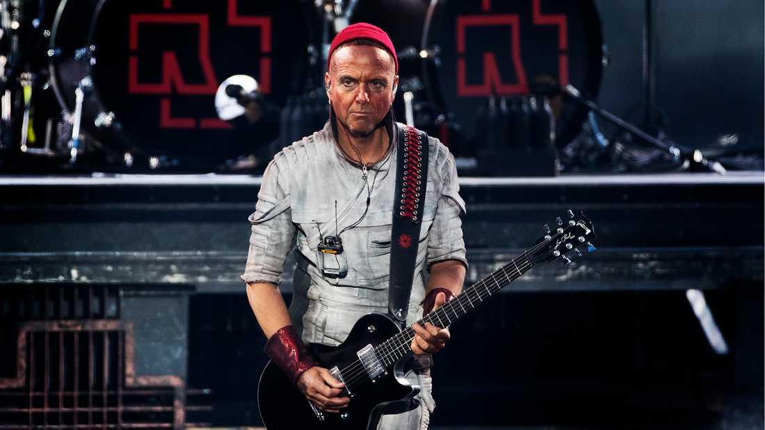 Rammstein på Stadion. Gitarristen Paul H. Landers.