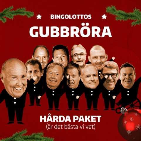 """Bingolottos Gubbröra  För att locka tittare till Bingolottos uppesittarekväll 2014 släpper Ingvar Oldsberg jullåten Hårda Paket. Detta tillsammans med sin nybildade manskör Gubbröra. """"Ni har aldrig sett något liknande"""", säger Ingvar Oldsberg och vi kan inte annat än hålla med."""